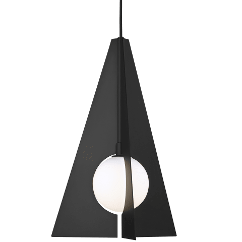 Orbel Pyramid Pendant matte black no lamp