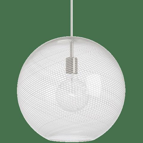 Palestra Large Pendant Opal/Clear satin nickel no lamp