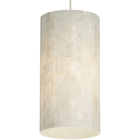 Playa Line-Voltage Pendant White satin nickel no lamp