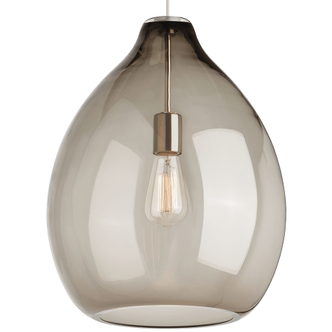 Quinton Pendant Smoke satin nickel 2700K 90 CRI st19 led 90 cri 2700k 120v (t24)