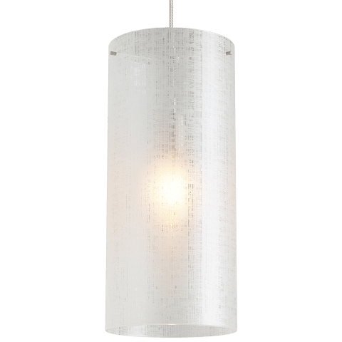 Vetra Grande Pendant Linen satin nickel no lamp