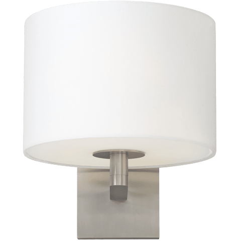 Chelsea Wall White satin nickel no lamp