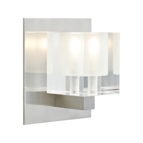 Cube Wall Frost satin nickel 12 volt halogen (t20)