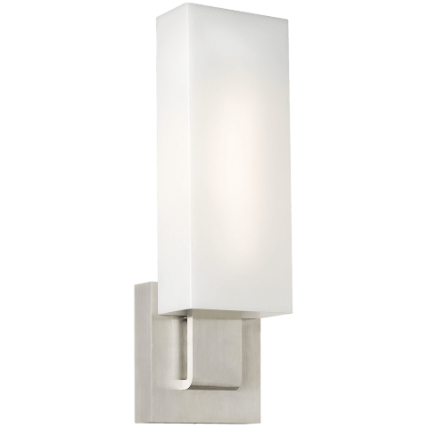 Kisdon Wall White Glass satin nickel 3000K 80 CRI led 80 cri 3000k 120v