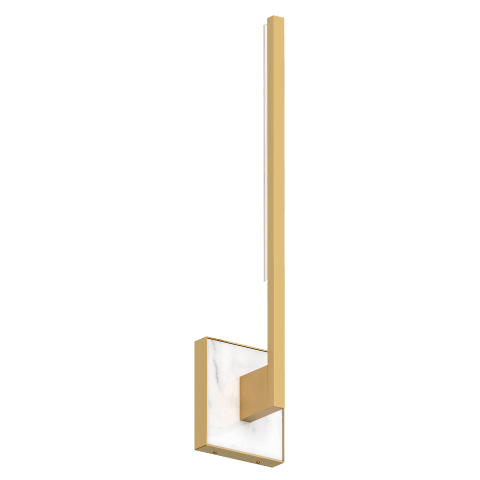 Klee 20 Wall natural brass 3000K 90 CRI integrated led 90 cri 3000k 120v