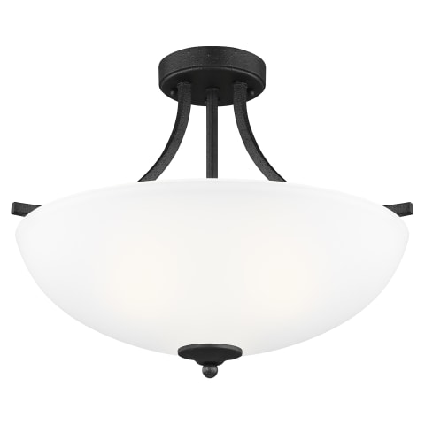 Geary Medium Three Light Semi-Flush Convertible Pendant Blacksmith