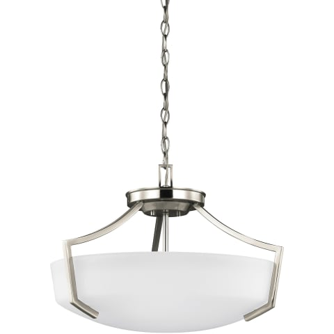 Hanford Three Light Ceiling Convertible Pendant Brushed Nickel Bulbs Inc