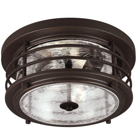 Sauganash Two Light Outdoor Flush Mount Antique Bronze