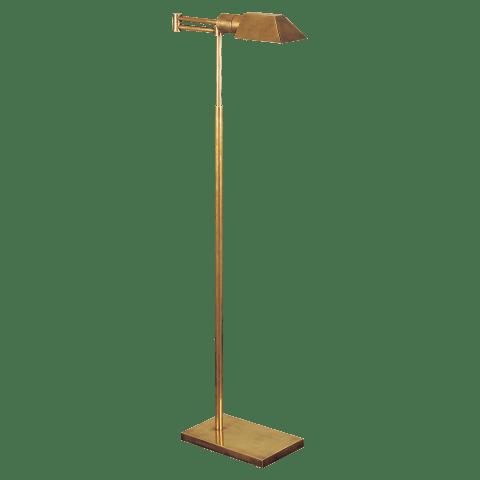 Studio Swing Arm Floor Lamp in Hand-Rubbed Antique Brass