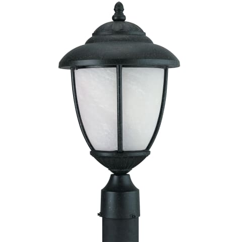 Yorktown One Light Outdoor Post Lantern Forged Iron
