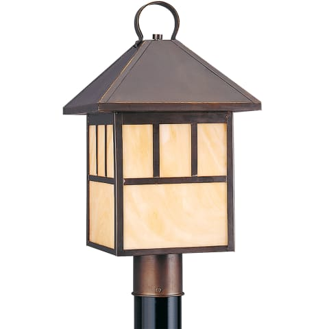 Prairie Statement One Light Outdoor Post Lantern Antique Bronze Bulbs Inc