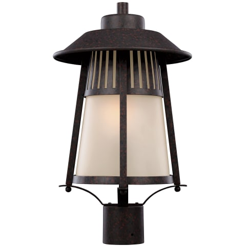 Hamilton Heights One Light Outdoor Post Lantern Oxford Bronze Bulbs Inc
