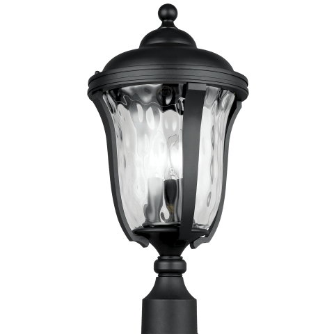 Perrywood Three Light Outdoor Post Lantern Black