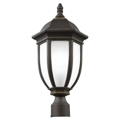 Galvyn One Light Outdoor Post Lantern Antique Bronze Bulbs Inc