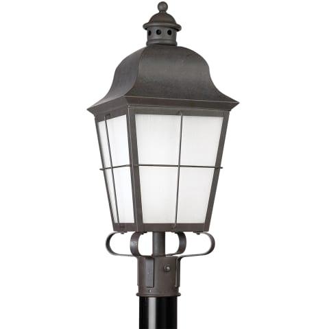 Chatham One Light Outdoor Post Lantern Oxidized Bronze