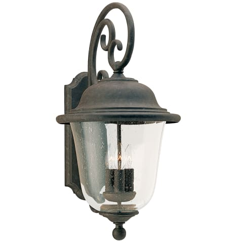 Trafalgar Three Light Outdoor Wall Lantern Oxidized Bronze