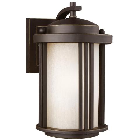 Crowell Small One Light Outdoor Wall Lantern Antique Bronze Bulbs Inc
