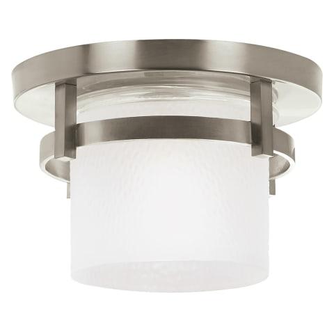 Eternity One Light Outdoor Flush Mount Brushed Nickel Bulbs Inc