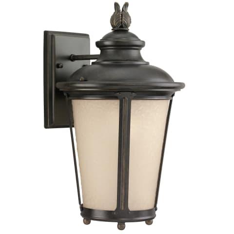 Cape May  Medium One Light Outdoor Wall Lantern Burled Iron