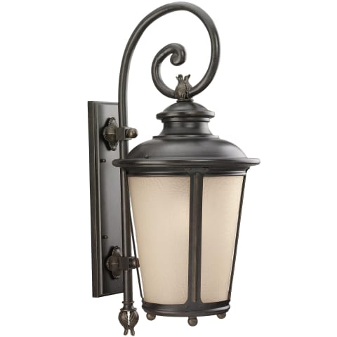 Cape May  Extra Large One Light Outdoor Wall Lantern Burled Iron