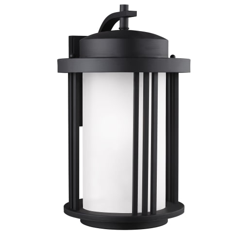 Crowell Large One Light Outdoor Wall Lantern Black Bulbs Inc