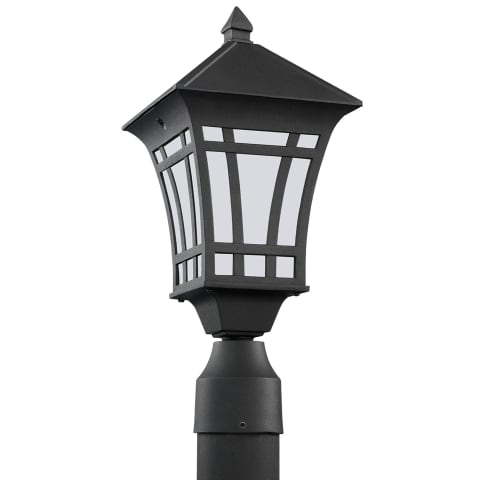 Herrington One Light Outdoor Post Lantern Black