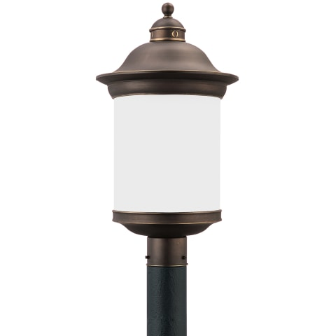 Hermitage One Light Outdoor Post Lantern Antique Bronze