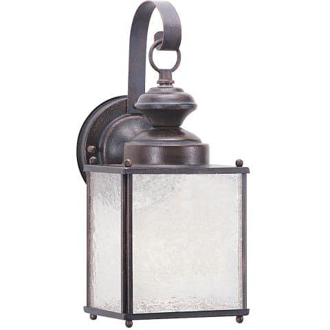 Jamestowne One Light Outdoor Wall Lantern Textured Rust Patina Bulbs Inc