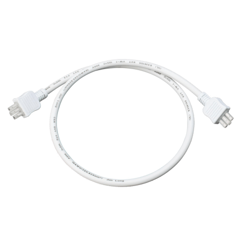 18 Inch Connector Cord White