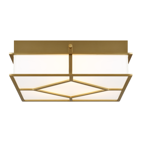 Transom Flush Mount Burnished Brass