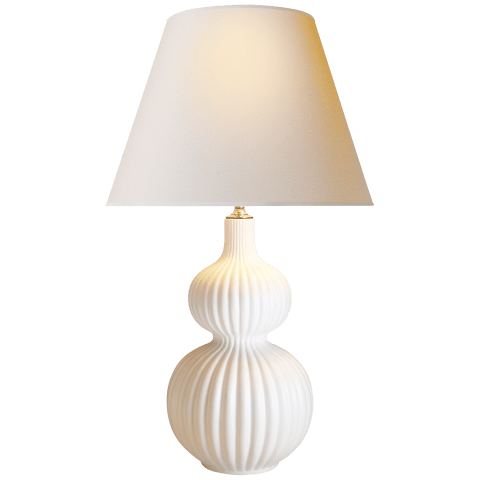 Lucille Table Lamp in Plaster White with Natural Paper Shade