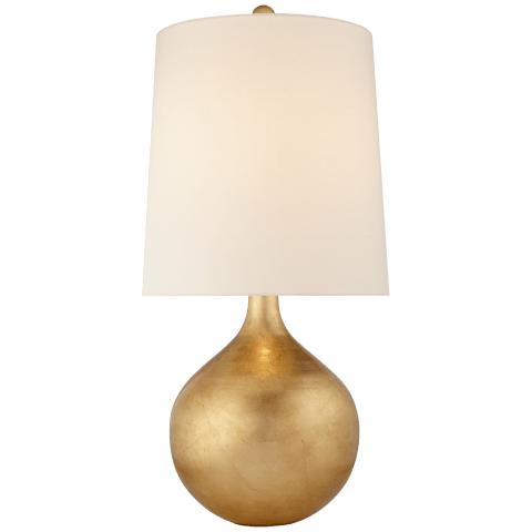 Warren Table Lamp in Gild with Linen Shade