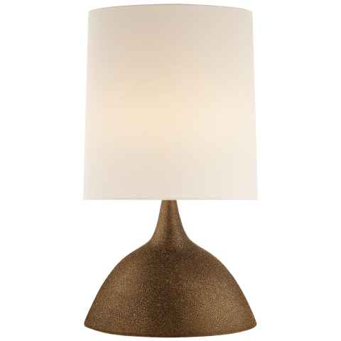Fanette Large Table Lamp in Chalk Burnt Gold with Linen Shade