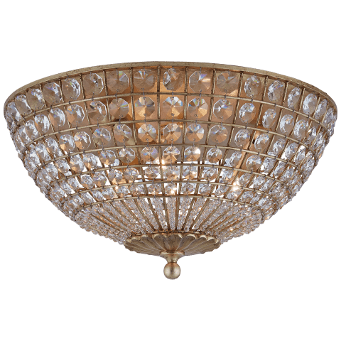 Renwick Flush Mount in Gild with Crystal