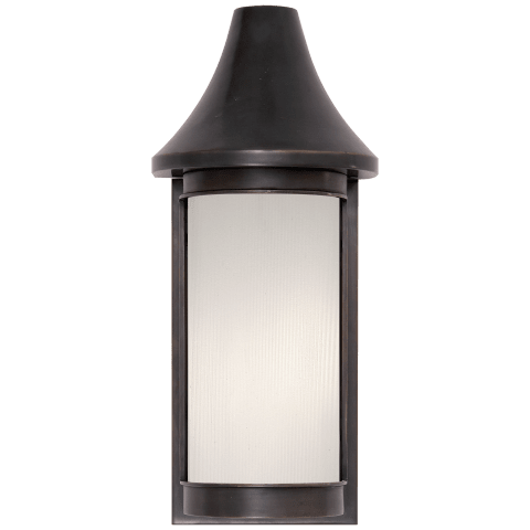 Normandy Small Sconce in Bronze with Frosted Glass