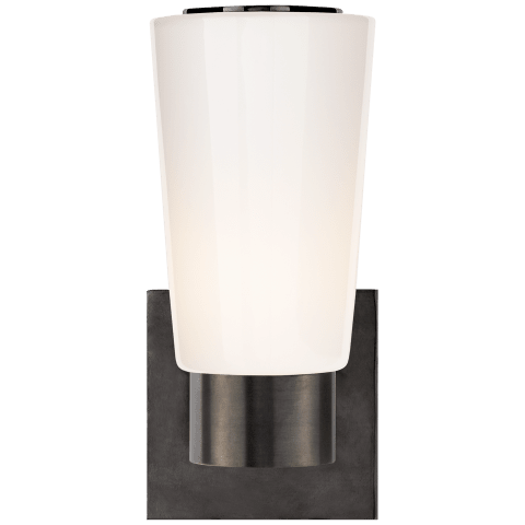 Acme Sconce in Bronze with White Glass