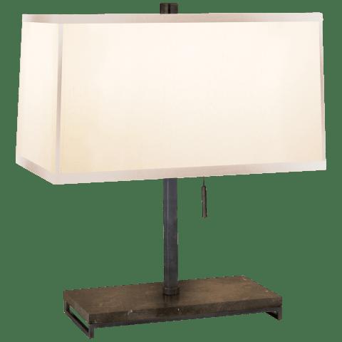 Philosophy Desk Lamp in Bronze with Silk Shade