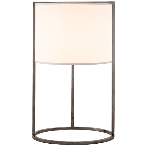 Framework Desk Lamp in Bronze with Silk Shade