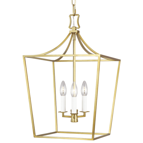 Southold 3 - Light Lantern Burnished Brass