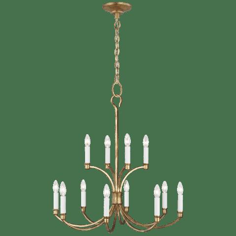 Westerly Medium Chandelier Antique Gild