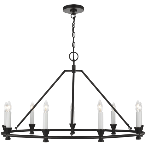 Keystone 9 - Light Chandelier Aged Iron