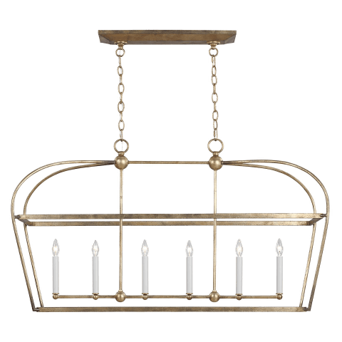 Stonington Linear Lantern Antique Gild