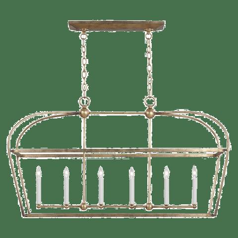 Stonington 6 - Light Linear Lantern Antique Gild