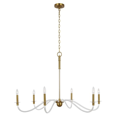 Hanover Large Chandelier Burnished Brass