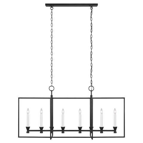 Keystone Linear Chandelier Aged Iron