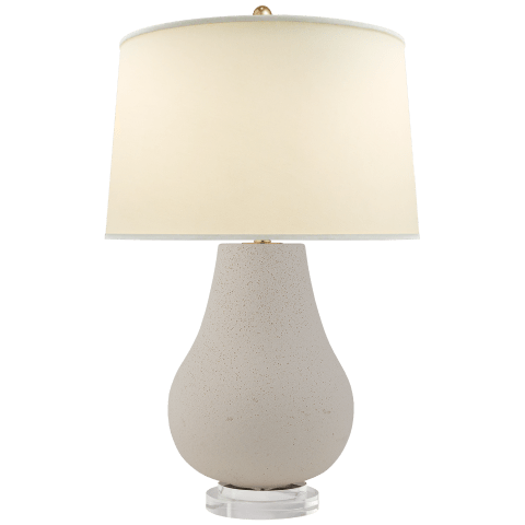 Arica Table Lamp in Volcanic Ivory with Natural Percale Shade