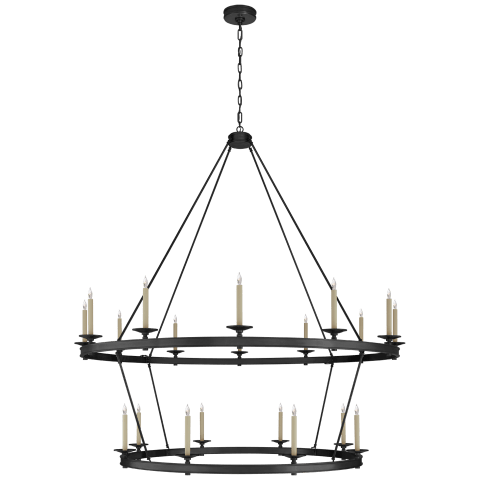 Launceton XXL Two Tiered Chandelier in Bronze