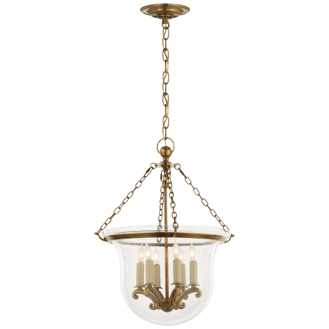Country Medium Bell Jar Lantern in Bronze