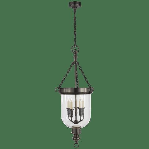 Georgian Large Smoke Bell Lantern in Bronze