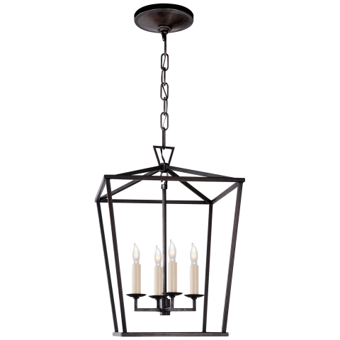 Darlana Small Lantern in Aged Iron